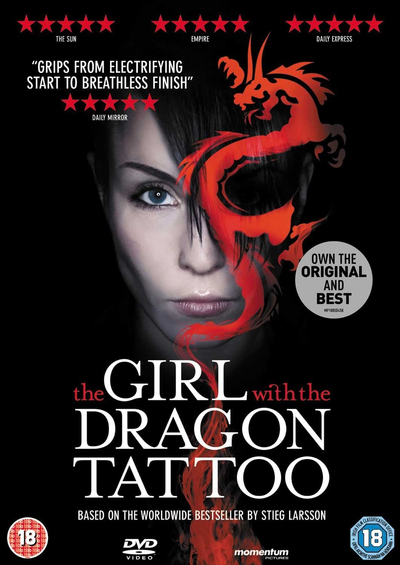 The girl with the dragon tattoo dvd noomi rapace michael for Girl with dragon tattoo books in order