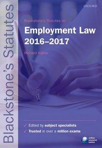 Blackstone's statutes on employment law 2016-2017