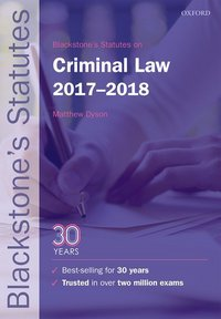 Blackstone's statutes on criminal law, 2017-2018