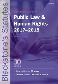 Blackstone's statutes on public law & human rights, 2017-2018