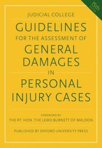 Jacket Image For: Guidelines for the assessment of general damages in personal injury cases