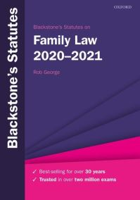 Blackstone's statutes on family law 2020-2021