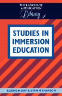 Jacket Image For: Studies in Immersion Education