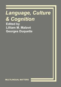 Jacket Image For: Language, Culture and Cognition