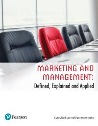 Jacket Image For: Marketing and Management: Defined, Explained and Applied (Custom Edition)