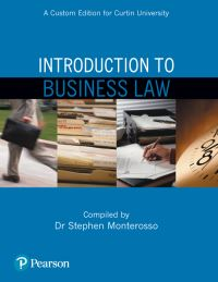 Jacket Image For: Introduction to Business Law (Custom Edition)