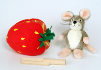 Jacket Image For: Plush Strawberry and Wooden Knife