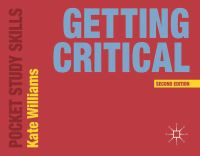 Jacket image for Getting Critical