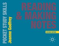 Jacket image for Reading and Making Notes