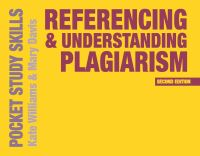 Jacket image for Referencing and Understanding Plagiarism