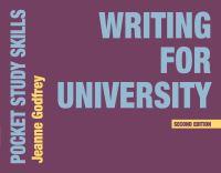 Jacket image for Writing for University