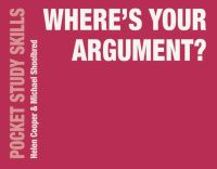 Jacket image for Where's Your Argument?