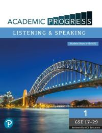 Jacket Image For: Academic Progress GCC Listening and Speaking Level 1 Student Book and MyEnglishLab