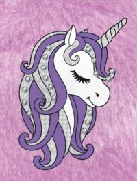 Jacket Image For: Bejeweled Unicorn Fur Trifold Organiser