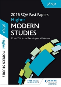 Jacket Image For: Higher modern studies 2016-17 SQA past papers with answers