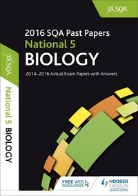 Jacket Image For: National 5 biology 2016-17 SQA past papers with answers