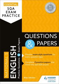 Jacket Image For: National 5 English. Questions and papers