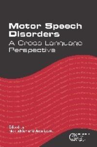 Jacket Image For: Motor Speech Disorders