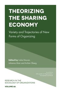 Jacket image for Theorizing the Sharing Economy