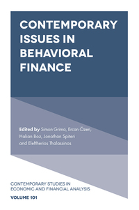 Jacket image for Contemporary Issues in Behavioral Finance