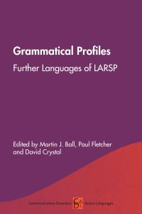 Jacket Image For: Grammatical Profiles