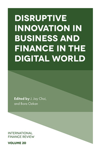 Jacket image for Disruptive Innovation in Business and Finance in the Digital World