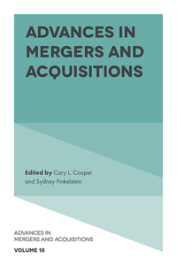 Jacket image for Advances in Mergers and Acquisitions
