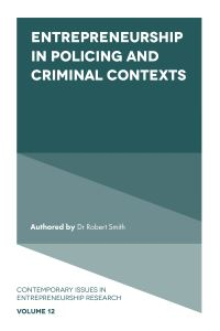 Jacket image for Entrepreneurship in Policing and Criminal Contexts