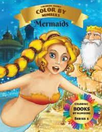 Jacket Image For: Coloring Books - Color By Numbers - Mermaids (Series 2)