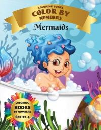 Jacket Image For: Coloring Books - Color By Numbers - Mermaids (Series 4)