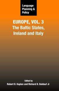 Jacket Image For: Language Planning and Policy in Europe, Vol. 3