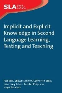 Jacket Image For: Implicit and Explicit Knowledge in Second Language Learning, Testing and Teaching