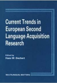 Jacket Image For: Current Trends in European Second Language Research