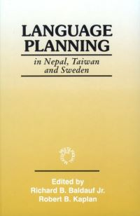 Jacket Image For: Language Planning in Nepal, Taiwan and Sweden