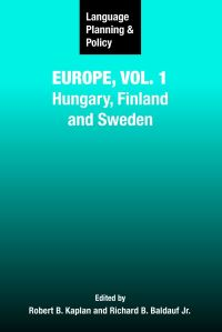 Jacket Image For: Language Planning and Policy in Europe, Vol. 1
