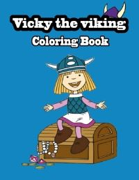 Jacket Image For: Vicky the viking coloring book