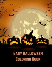 Jacket Image For: Easy Halloween Coloring Book for Kids