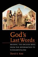 """God's Last Words"" by David S.              Katz"