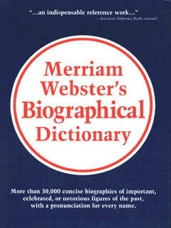 Image for Merriam-Webster's biographical dictionary
