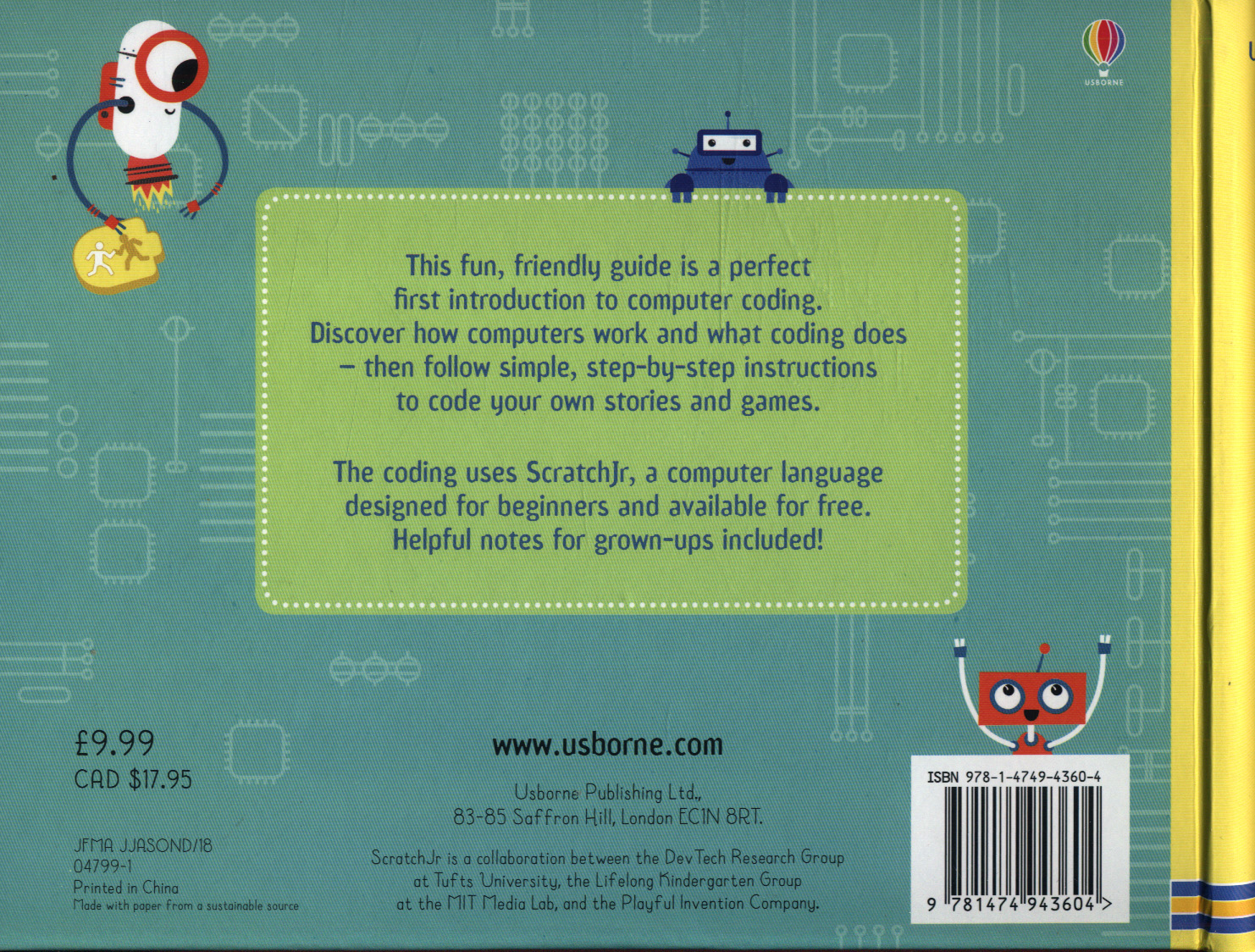 Usborne my first computer coding book with ScratchJr by