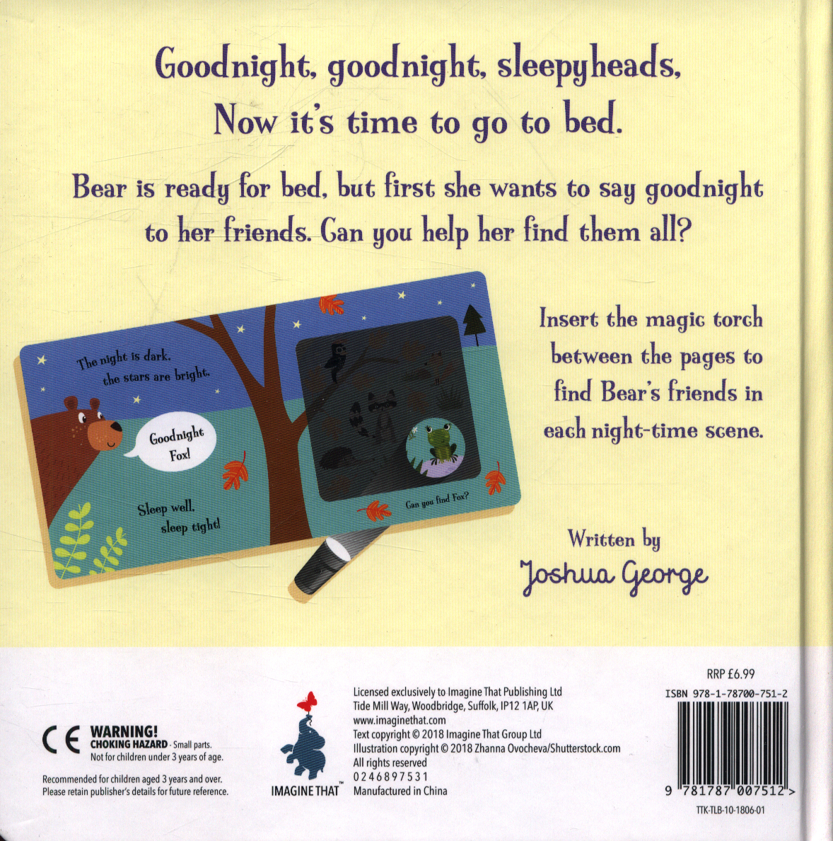 Goodnight Bear : a magic torch book by George, Joshua (9781787007512