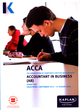 Image for Accountant in business (AB/FAB): Study text