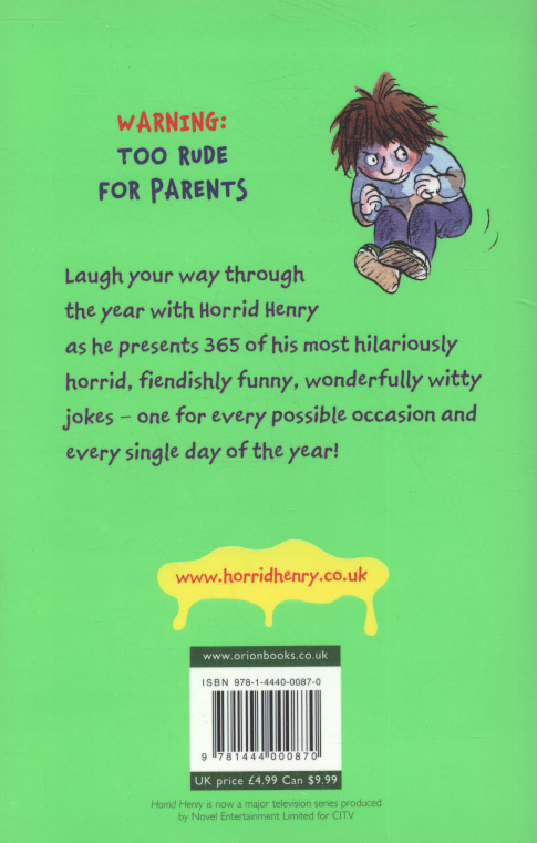 Horrid Henry's hilariously horrid joke book by Simon