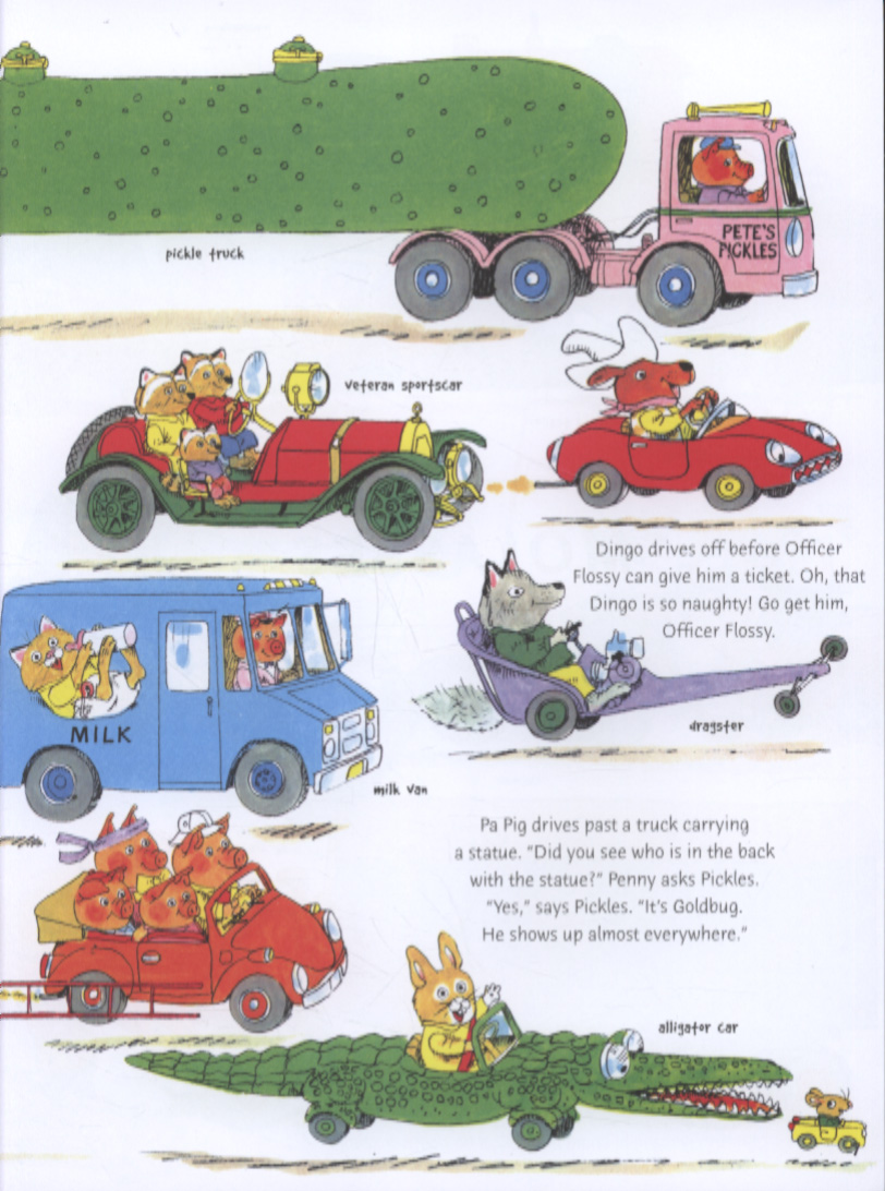 Richard Scarry's cars and trucks and things that go by Scarry, Richard  (9780007357383)   BrownsBfS