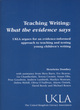 Image for Teaching writing  : what the evidence says