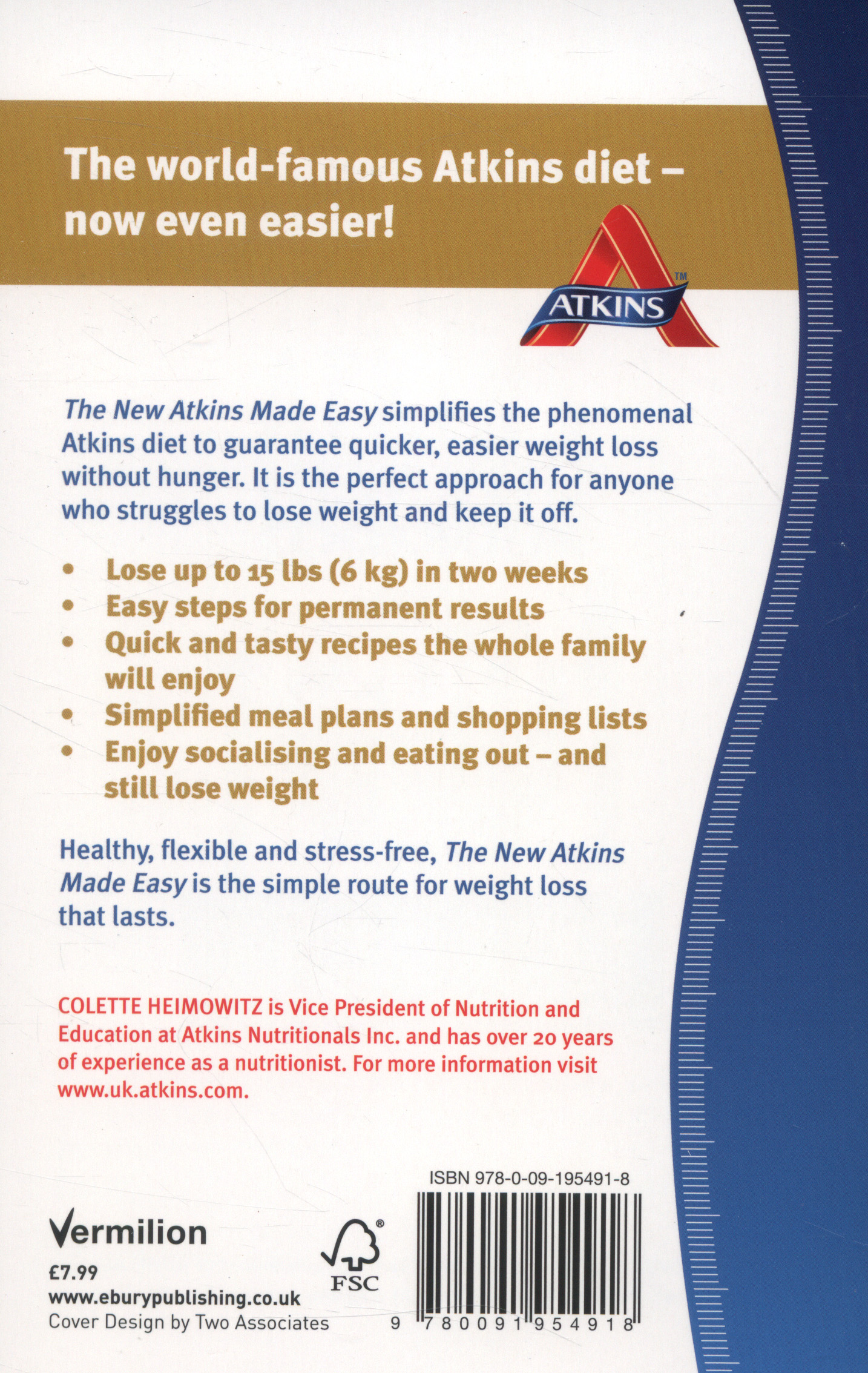 The New Atkins Made Easy A Faster Simpler Way To Shed Weight And