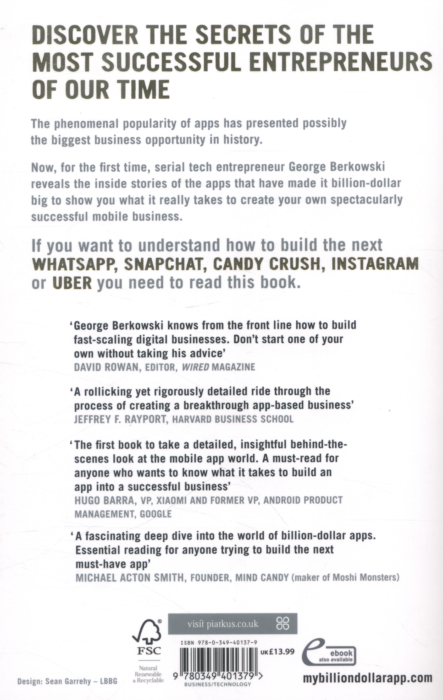 How to build a billion dollar app : discover the secrets of