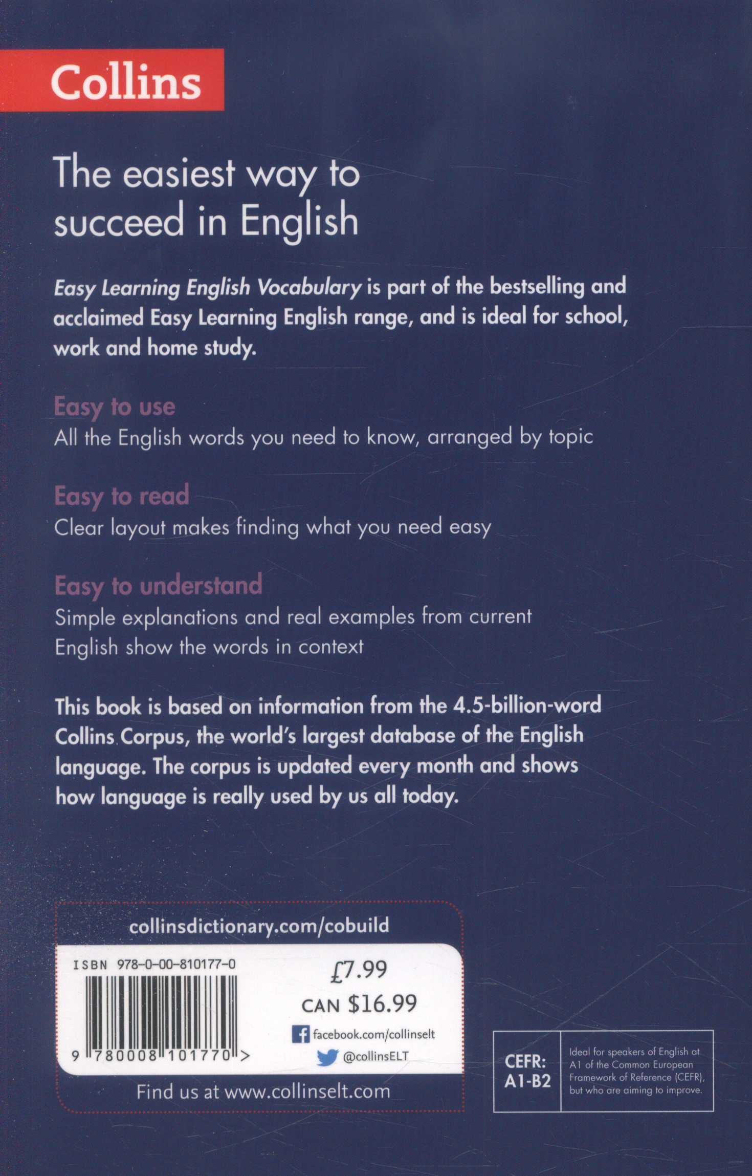 Collins easy learning English vocabulary : all the words you
