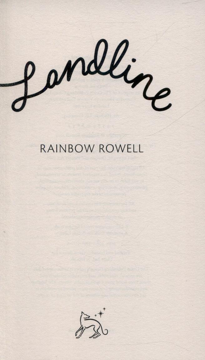 Landline Rainbow Rowell Ebook