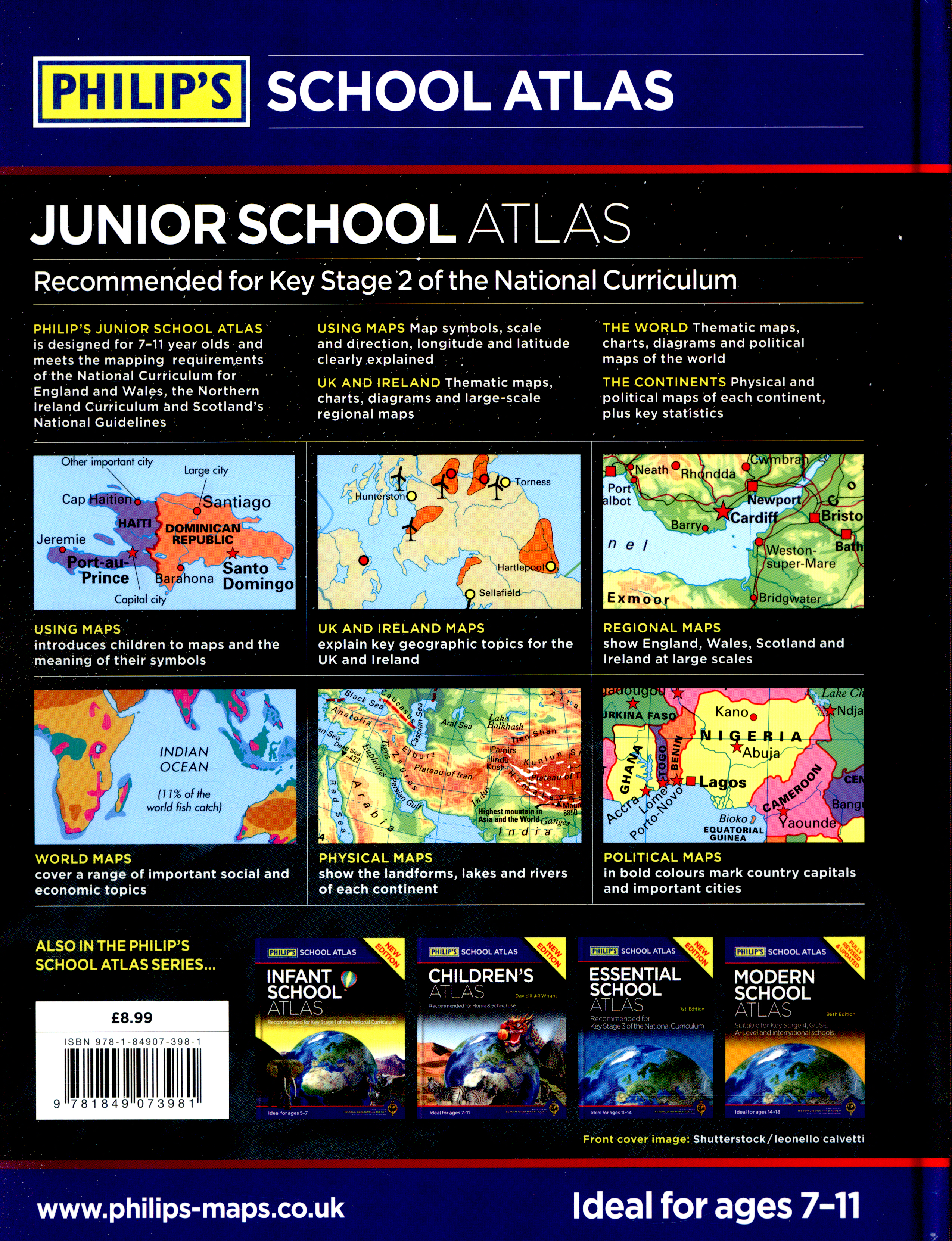 junior school atlas   recommended for key stage 2 of the national curriculum by royal